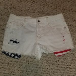 👖NWT Kids Justice American Flag shorts